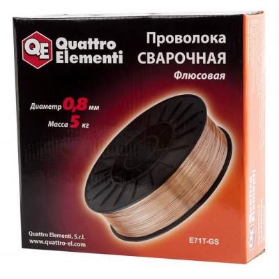 Проволока сварочная QE флюсовая, 0,8мм, 5,0 кг